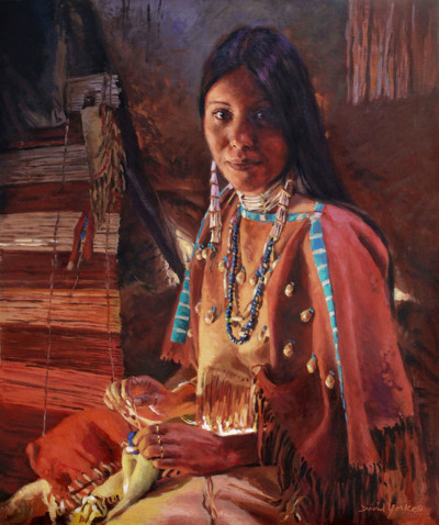 Artisan Of The Lakota Painting by David Yorke Art
