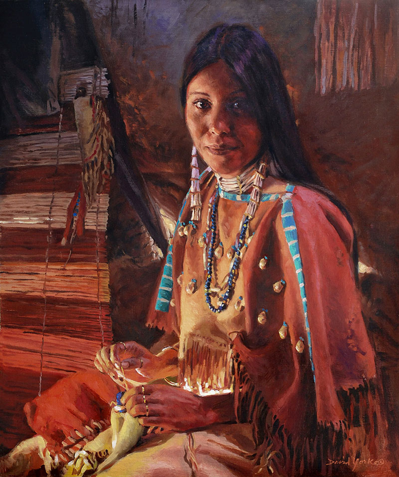 Artisan Of The Lakota Painting by David Yorke Art