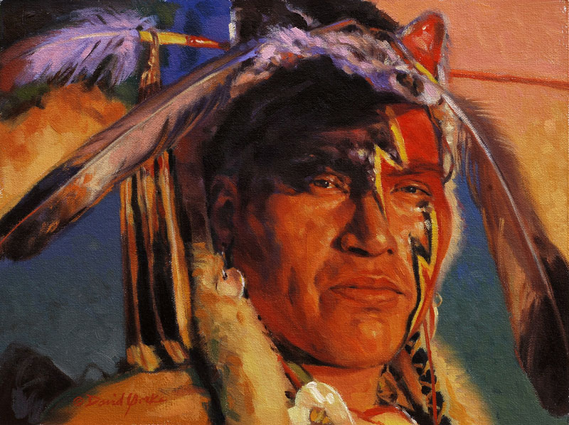Assiniboine Dancer Painting by David Yorke Art