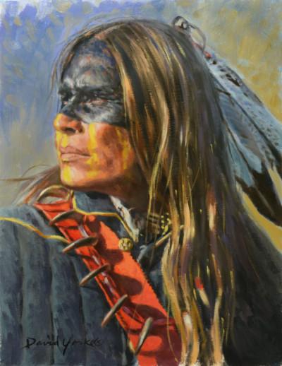 Blue Jacket Portrait Painting by David Yorke Art