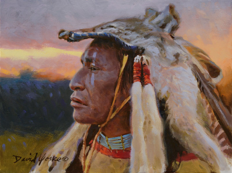 Coyote Hunter Painting by David Yorke Art