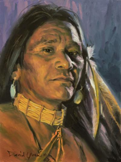 Lakota Brave Painting by David Yorke Art