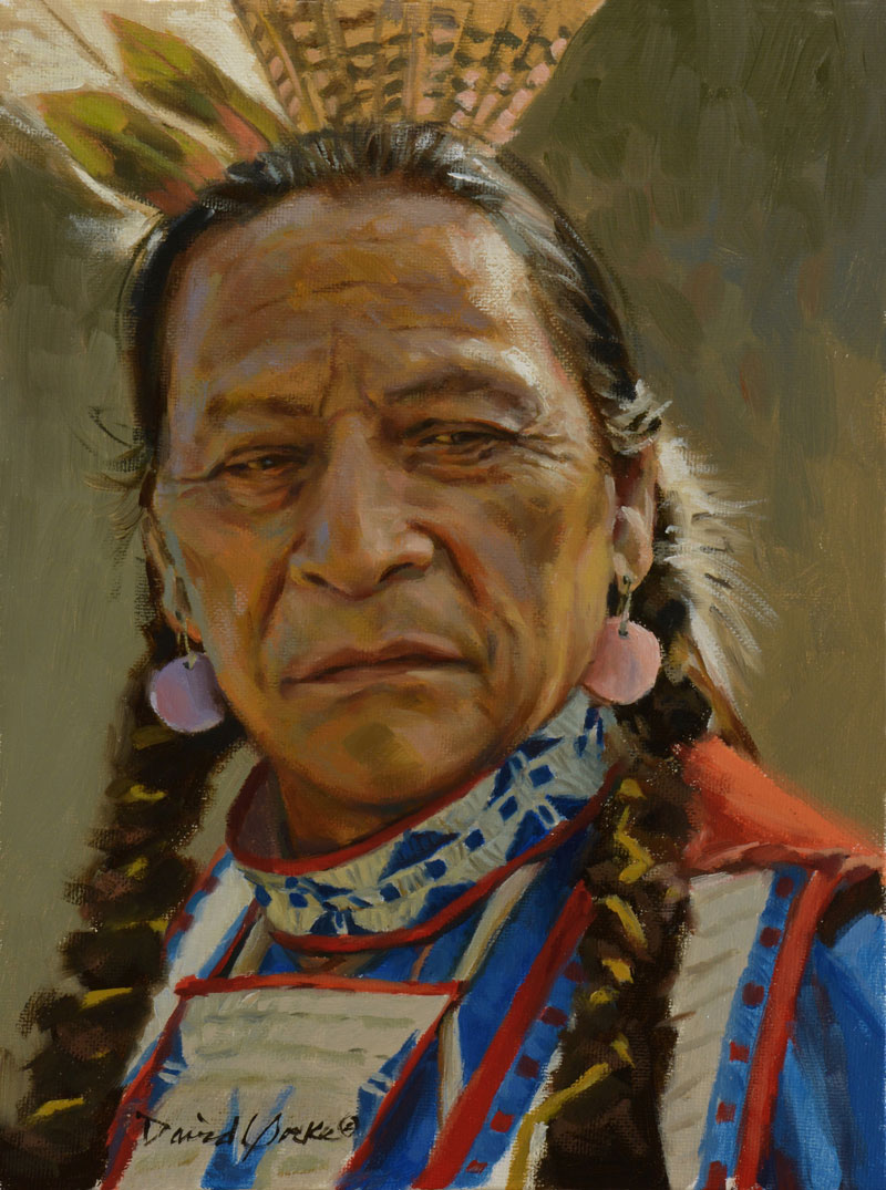 Lakota Sioux Dancer Painting by David Yorke Art