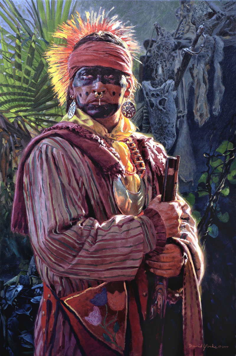 Seminole Warrior Painting by David Yorke Art