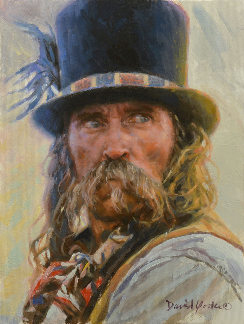 Snake Oil Peddler Portrait by David Yorke Art